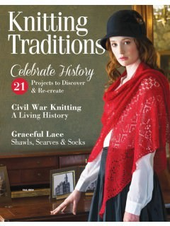 KNITTING TRADITIONS - AUTOMNE 2014