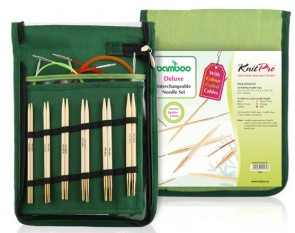 KIT D'AIIGUILLES INTERCHANGEABLE EN BAMBOU