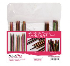 Symfonie Wood Double Pointed Needle Set Knit Pro - 10cm(4'')