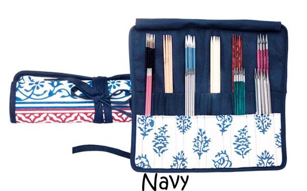 pochette aig doubles pointes navy