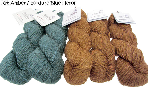 Quaking Aspen Shawl amber-blueheron